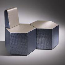 Pouf moderno / in schiuma ad alta densità rivestita / modulare / professionale