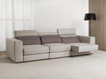 Divano moderno / in tessuto / reclinabile