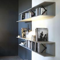 Scaffale a muro / moderno / in quercia / in alluminio