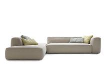 Divano modulare / moderno / in tessuto / grigio
