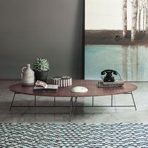 Tavolino basso moderno / in legno / in acciaio / in legno laccato opaco