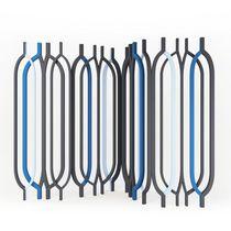 Paravento moderno / in legno / nero / blu