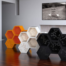 Scaffale modulabile / moderno / in legno laccato