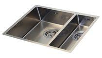 Lavello a 2 vasche / in acciaio inox
