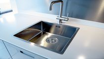 Lavello a 1 vasca / in acciaio inox