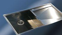 Lavello a 1 vasca / in acciaio inox / con gocciolatoio