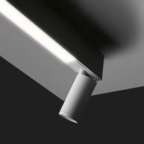 Faretti a binario LED / rotonda / in alluminio / per negozio