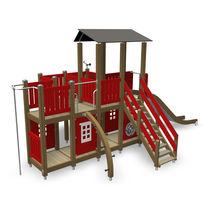Gioco per parchi in legno / in metallo / per parco giochi