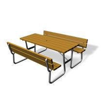 Tavolo da pic nic / classico / in legno / rettangolare