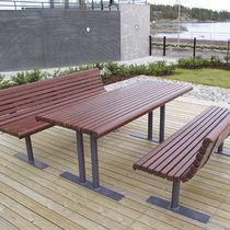 Tavolo classico / in pino / in acciaio / rettangolare