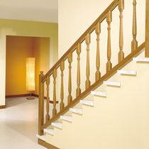 Ringhiera in legno / a sbarre / da interno / per scala