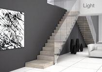 Scala dritta / con gradini in legno / con gradini in calcestruzzo / con alzata