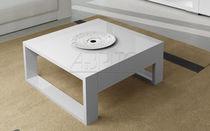 Tavolino basso moderno / in legno laccato / rettangolare / da interno