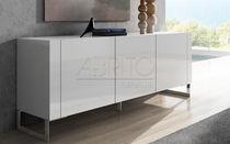 Credenza moderna / in legno laccato / bianca
