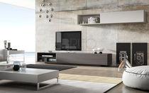 Parete attrezzata TV moderno / in legno laccato