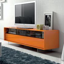 Mobile porta TV moderno / in legno laccato / in vetro