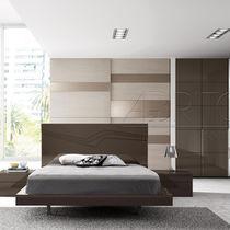 Letto standard / doppio / moderno / legno