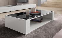 Tavolino basso / moderno / in vetro / rettangolare