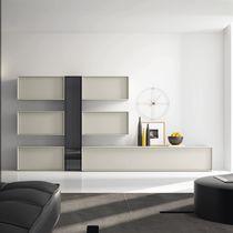 Parete attrezzata per soggiorno moderna / in legno laccato