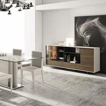 Credenza moderna / in legno / in legno laccato / a vetrina