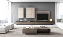 Parete attrezzata TV moderno / in legno / in legno laccato