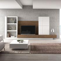 Parete attrezzata TV moderno / in legno / in legno laccato / modulabile