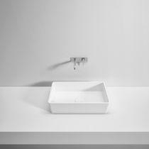 Lavabo da appoggio / rettangolare / in Solid Surface / in resina