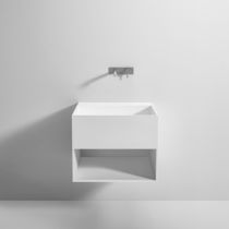 Mobile lavabo sospeso / in Corian® / moderno