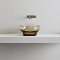 Lavabo da appoggio / rotondo / in vetro di Murano / moderno