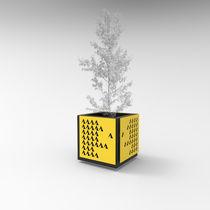 Fioriera in metallo / quadrata / rettangolare / design originale