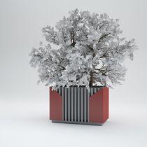 Fioriera in metallo / quadrata / rettangolare / moderna