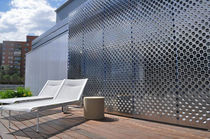 Frangisole in acciaio inox / per facciata / perforato / a slitta