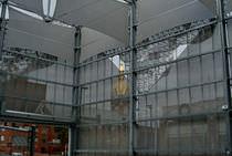 Frangisole in alluminio / per facciata / perforato