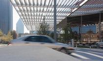 Pensilina per edificio terziario / in alluminio / per uso professionale