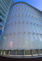 Frangisole in metallo / in vetro / per facciata / verticale