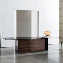 Tavolo da pranzo moderno / in legno / in vetro / rettangolare