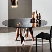 Tavolo da pranzo moderno / in vetro / in quercia / in noce