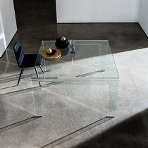 Tavolo da pranzo moderno / in vetro / rettangolare / quadrato