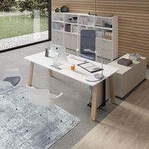 Scrivania per open space / in legno / moderna / professionale