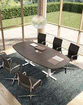 Tavolo da riunione moderno / in legno