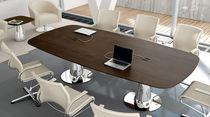 Tavolo da riunione moderno / in legno / ovale