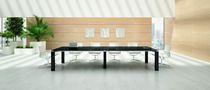 Tavolo d'appoggio moderno / impiallacciato in legno / rettangolare / 100% riciclabile