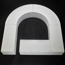 Panca pubblica / moderna / in plastica / modulare