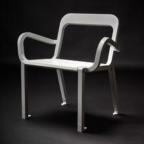 Sedia moderna / in legno / in acciaio / in acciaio inossidabile