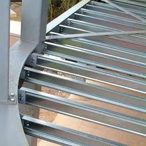 Trave prefabbricata / in acciaio galvanizzato / a C / per carpenteria