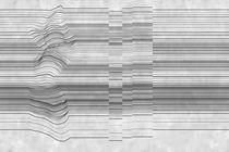 Carte da parati moderne / in vinile / a righe / a effetto dimensionale