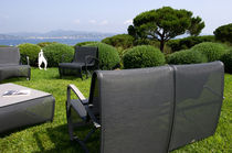 Poltrona moderna / in alluminio / in Batyline® / da giardino