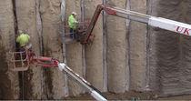 Geocomposito di drenaggio / in polietilene / per muro