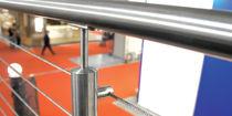 Ringhiera in metallo / in cavi di acciaio / da interno / per scala