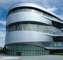 Rivestimento di facciata in alluminio / in metallo / riflettente